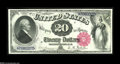 Large Size:Legal Tender Notes, Fr. 140 $20 1880 Legal Tender Superb Gem New. It is doubtful that many nicer Fr. 140s exist than this well-margined Gem. The...