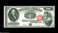 Large Size:Legal Tender Notes, Fr. 164 $50 1880 Legal Tender Very Choice New. Fr. 164 has one ofthe strangest survival figures of any large size notes. Th...
