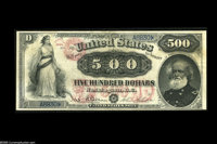 Fr. 185d $500 1878 Legal Tender Very Fine. This is the third opportunity that we have had to offer this magnificent Gene...