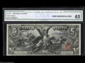 Large Size:Silver Certificates, Fr. 268 $5 1896 Silver Certificate CGA Gem Uncirculated 65. Thisnote only has one prior auction appearance, which was when ...