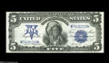 Large Size:Silver Certificates, Fr. 278 $5 1899 Silver Certificate Choice About Uncirculated. The surfaces are flat and there is just a hint of a fold on th...