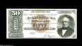 Large Size:Silver Certificates, Fr. 328 $50 1880 Silver Certificate Choice Extremely Fine. In spiteof around thirty examples of this number being known, th...