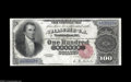 Large Size:Silver Certificates, Fr. 342 $100 1880 Silver Certificate Choice Extremely Fine. Anextremely rare note, with a total census of about a dozen pie...