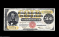 Large Size:Gold Certificates, Fr. 1217 $500 1922 Gold Certificate Choice About New. Jim O'Nealacquired this lovely $500 Gold Certificate from Lyn's Memph...