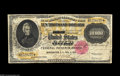 Large Size:Gold Certificates, Fr. 1225 $10,000 1900 Gold Certificate Very Good-Fine. This unredeemable, ultra-high denomination Gold Certificate was acqui...
