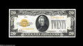 Large Size:Gold Certificates, Fr. 2402 $20 1928 Gold Certificate. Gem Crisp Uncirculated. Thethird in this group, with this piece displaying its full or...