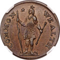 Colonials, 1787 CENT Massachusetts Cent, Arrows in Left Talon, MS61 Brown NGC. Ryder 2-E, W-6060, R.5....