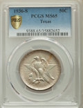 Commemorative Silver, 1936-S 50C Texas MS65 PCGS Secure. PCGS Population: (926/677). NGC Census: (520/596). CDN: $175 Whsle. Bid for problem-free...