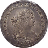 1798 $1 Large Eagle, Pointed 9, Wide Date, B-23, BB-105, R.3, XF40 PCGS....(PCGS# 40022)