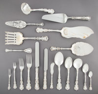 A One Hundred and Ninety-One-Piece International Silver Co. Avalon Pattern Silver Flatware S