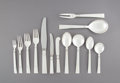 Silver & Vertu:Flatware, A One Hundred and Thirty-Seven-Piece Georg Jensen Acadia Pattern Silver Flatware Service, Copenhagen, Denmark, p... (Total: 141 Items)