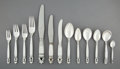 Silver & Vertu:Flatware, A One Hundred and Forty-Five Piece Georg Jensen Acorn Pattern Silver Flatware Service with a Blossom P... (Total: 147 Items)