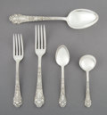 Silver Flatware, American:Gorham, A Thirty-Nine-Piece Gorham Mfg. Co. Medici Pattern SilverFlatware Partial Service, Providence, Rhode Island, de... (Total:39 Items)