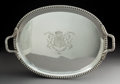 Silver & Vertu:Hollowware, A John Edward Terry & Co. Silver Tray Retailed by Payne and Son, London, 1821. Marks: (lion passant), (crowned leopard), (du...