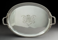 A John Edward Terry & Co. Silver Tray Retailed by Payne and Son, London, 1821 Marks: (lion passant), (crowned leop...
