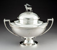 A Ball, Black & Co. Silver Covered Tureen with Stag-Form Finial, Attributed to John R. Wendt, New York, ci