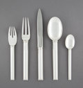 Silver & Vertu:Flatware, A Forty-Piece Jean E. Puiforcat Cannes Pattern Flatware Service, Paris, France, designed 1928. Marks: (E-penknif... (Total: 40 Items)