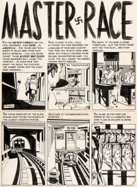 "Bernie Krigstein Impact #1 Complete 8-Page Story ""Master Race"" Original Art (EC, 1955).... (Total: 8 Items)"