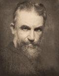 , Alvin Langdon Coburn (British, 1882-1966). George Bernard Shaw;Auguste Rodin (two portraits), 1904; 1906. Photogravure,...(Total: 2 Items)