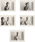 Photographs, Duane Michals (American, b. 1932). Portrait of Roger and Shelley (series of five photographs), circa 1975. Gelatin silve...