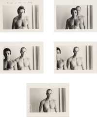 Duane Michals (American, b. 1932) Portrait of Roger and Shelley (series of five photographs), circa 197