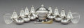 Silver & Vertu:Other Silver, A Nineteen-Piece Group of Georg Jensen Silver, Glass, and Horn Table Accessories, Copenhagen, Denmark, 1925-1932. Marks to s... (Total: 19 )