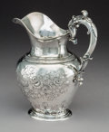 Silver & Vertu:Hollowware, A William Forbes Coin Silver Water Pitcher Retailed by Ball, Tompkins & Black, New York, circa 1850. Marks: BALL, TOMPKINS...