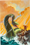 Original Comic Art:Covers, Don Newton Monster Hunters #1 Cover Painting Original Art (Charlton, 1975)....