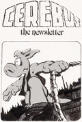 Original Comic Art:Covers, Dave Sim Cerebus the Newsletter #1 Cover Original Art(Cerebus Fan Club, 1981)....