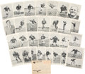 Football Collectibles:Photos, 1959 Green Bay Packers Team Issued Picture Pack Set (30). ...