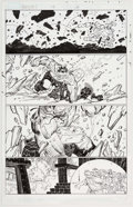 Original Comic Art:Panel Pages, John Romita Jr. and Klaus Johnson Avengers #14 Story Page 19 Original Art (Marvel, 2011)....