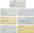 Autographs:Checks, 1980-93 Negro Leaguers Signed Checks Lot of 7.... (Total: 7 items)