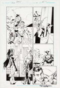 Original Comic Art:Panel Pages, Mark Bagley, Rob Hunter, Marlo Alquiza, and Walden Wong JusticeLeague of America #41 Story Page 25 Original Art (...