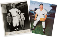 1960's Mickey Mantle and Roger Maris Signed Vintage Photographs (2) from The Gene Kirby Collection
