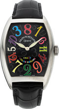 Timepieces:Wristwatch, Franck Muller, Crazy Hour Color Dreams, Oversized Stainless Steel, Ref. 8880CH, L.E. No. 158, Circa 2010. ...