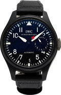 "Timepieces:Wristwatch, IWC, Big Pilot ""TOP GUN"", Ceramic 7-day PR, Ref: IW501901, Circa2010. ..."