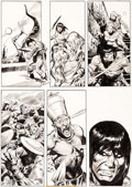 Original Comic Art:Panel Pages, John Buscema The Savage Sword of Conan #21 Story Page 49Original Art (Marvel, 1977)....