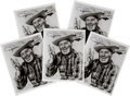 Baseball Collectibles:Photos, 1960's Dizzy Dean Signed Photographs Lot of 5 from The Gene KirbyCollection. ...