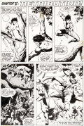 Original Comic Art:Panel Pages, John Buscema and Klaus Janson Tarzan #15 Story Page 14Original Art (Marvel, 1978)....