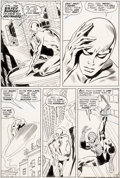 Original Comic Art:Panel Pages, John Buscema and Dan Adkins Silver Surfer #14 Story Page 6Spider-Man Original Art (Marvel, ...
