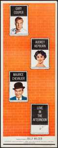 "Movie Posters:Romance, Love in the Afternoon (Allied Artists, 1957). Insert (14"" X 36"").Romance.. ..."