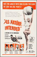 """Movie Posters:Sexploitation, As Nature Intended (Crown International, 1961). One Sheet (27"""" X41""""). Sexploitation.. ..."""