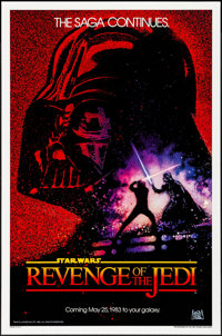 "Revenge of the Jedi (20th Century Fox, 1982). One Sheet (27"" X 41""). Dated Style. Science Fiction"