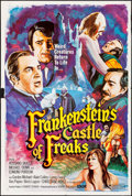 "Miscellaneous, Frankenstein's Castle of Freaks (Aquarius, 1975). One Sheet (28"" X41""). Horror...."