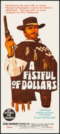 "Movie Posters:Western, A Fistful of Dollars (United Artists, 1967). Australian Daybill (13.25"" X 30""). Western.. ..."