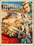 "Movie Posters:Adventure, Flame Over India (Rank, 1960). French Grande (47"" X 63"") Style B.Adventure. UK Title: Northwest Frontier, Jean Mascii A..."