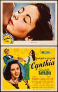 "Movie Posters:Comedy, Cynthia (MGM, 1947). Title Lobby Card & Lobby Card (11"" X 14"").Comedy.. ... (Total: 2 Items)"