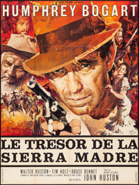"""The Treasure of the Sierra Madre (Athos Films, R-1962). Folded, Very Fine-. Full-Bleed French Grande (46"""" X 62""""..."""