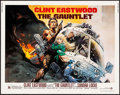 "Movie Posters:Action, The Gauntlet (Warner Brothers, 1977). Half Sheet (22"" X 28"") FrankFrazetta Artwork. Action.. ..."