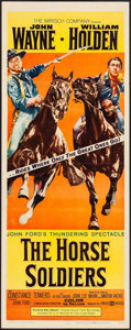 "Movie Posters:Western, The Horse Soldiers (United Artists, 1959). Insert (14"" X 36"").Western.. ..."